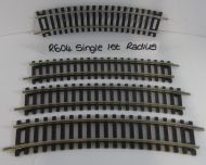 Pre-owned 4x Hornby R604 Single Curve 1st Radius