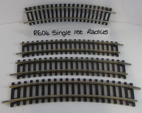 4 x Hornby R604 Single Curve 1st Radius