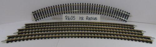 4 x Hornby R605 Double Curve 1st Radius