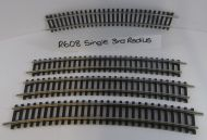 4 x Hornby R608 Single Curve 3rd Radius