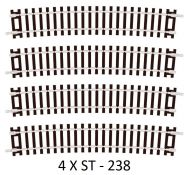 4 X Peco ST-238 Special Curve