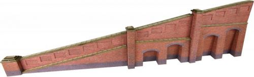 PN148 TAPERED RETAINING WALL IN RED BRICK
