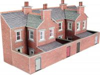 PN176 RELIEF RED BRICK TERRACED HOUSE BACKS