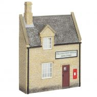 Bachmann 44-296 Low Relief Honey Stone Post Office and Shop New