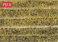 New Peco PSG-21 Daffodil Tuft Strips 4mm High Self Adhesive